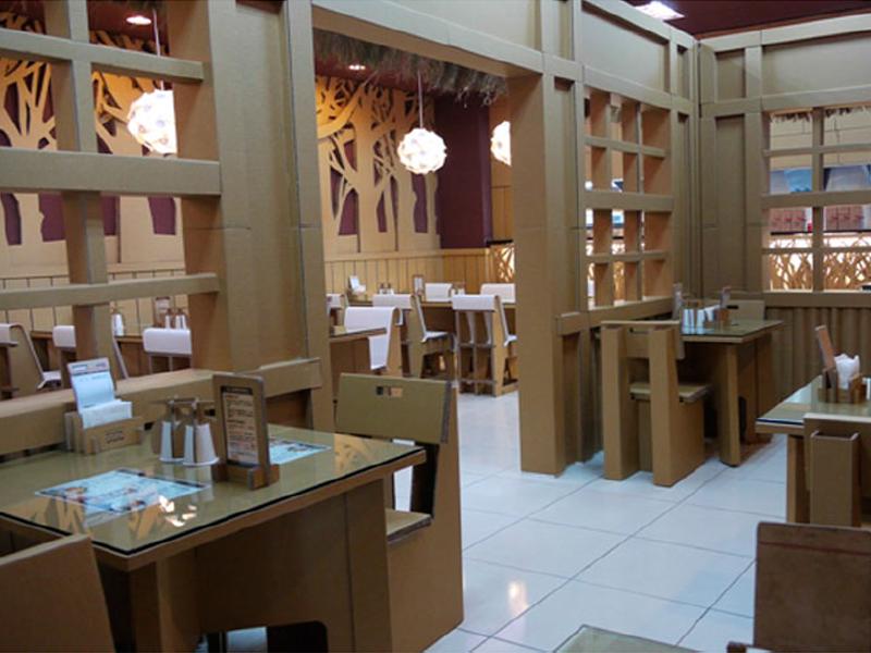 Restaurante Cartón Compactado